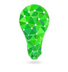 polygon idea light bulb vector image