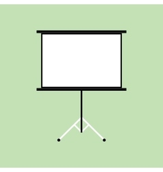 presentation board isolated with green background vector image