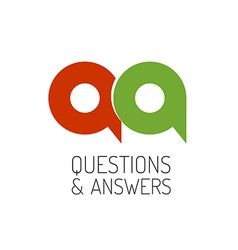 QA concept logo template Letters Q and A symbol vector image