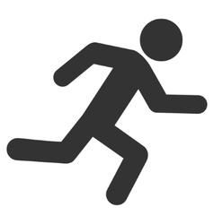 Running man flat icon vector