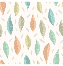 Seamless pattern with leaf vector image vector image