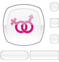 Sex white button vector