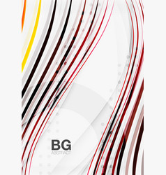 thin lines wave abstract background vector image vector image