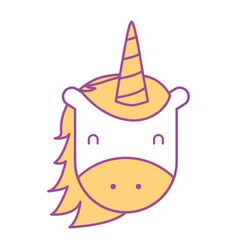 unicorn horned animal fantasy magic vector image