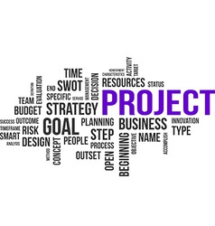 Word cloud project vector