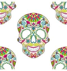 Zentangle stylized color Skull for Halloween vector image