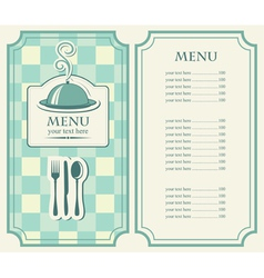 Menu tray vector