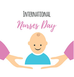 Greeting card of the nurses day vector