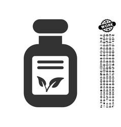 Natural drugs icon with job bonus vector