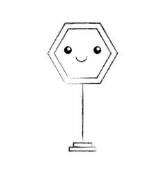Traffic signal kawaii character vector