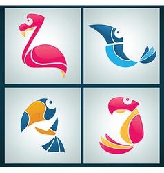 birds collection vector image