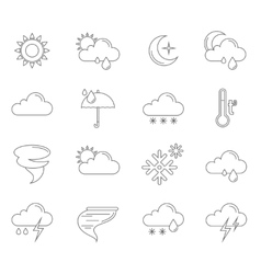 Weather icons outline vector