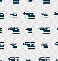 Helicopter icon sign seamless pattern with vector