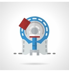 Mri machine flat icon vector