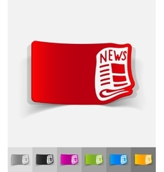 Realistic design element newspaper vector