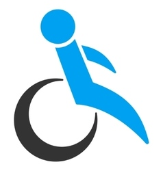 Wheelchair Flat Icon vector image
