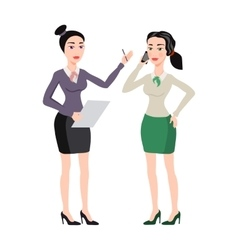 young women in elegant office clothes vector image