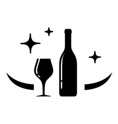 wine card symbol vector image