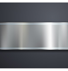 A metal plate on a gray background vector image vector image