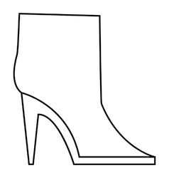 Ankle boots icon outline style vector