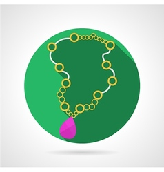 Beads necklace colored icon vector