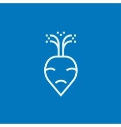 Beet line icon vector image vector image