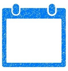 Calendar frame grainy texture icon vector