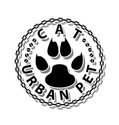 Cat-urban pet vector