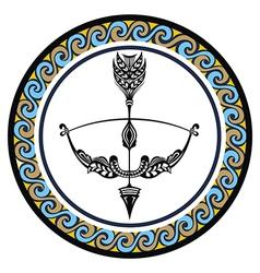 Decorative Zodiac sign Sagittarius vector image