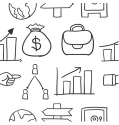 Doodle of business style design vector