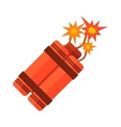 Dynamite bomb flat vector