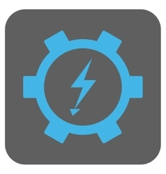 Electric energy gear wheel rounded square vector
