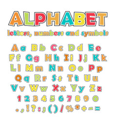 english alphabet uppercase and lowercase letters vector image vector image