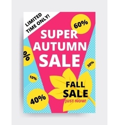 Eye catching design autumn sale vector image
