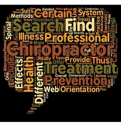 Find a chiropractor text background wordcloud vector