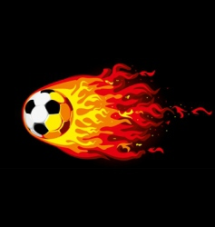 fire soccer ball vector image