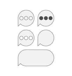 Flat Icons for mobile text Messaging vector image