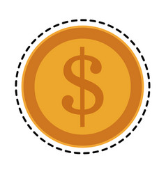 Golden coin icon image vector