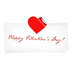 Happy Valentines Day Blank vector image vector image