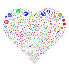 Help balloon fireworks heart vector