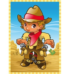 Little Cow Boy vector image vector image