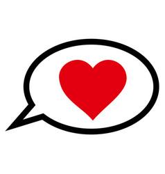 Love message balloon icon vector