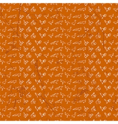 Origami seamless pattern design vector