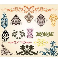 ornaments set vector image vector image