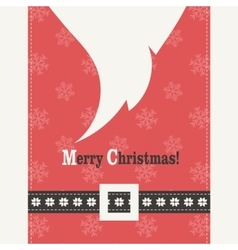 Red Christmas card with Santa Claus vector image vector image