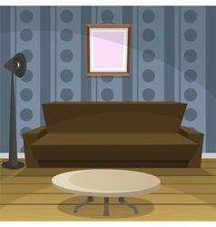 Retro room blue vector
