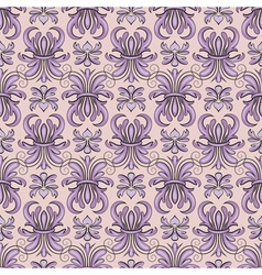 Seamless pattern violet tracery vector