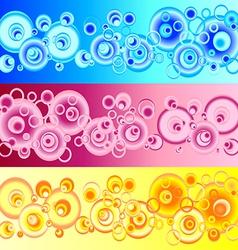 Set pattern circles vector image
