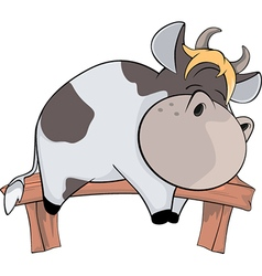Sleeping cow Cartoon vector image vector image