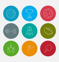 Sport line icons set vector